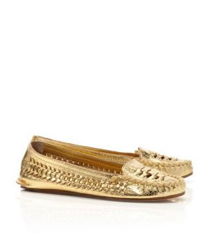 tory burch ballerina - shop for shoes - Tory Burch shoes - metallic NADIA MOCCASIN.jpg