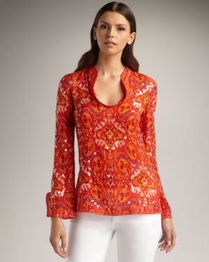 who is tory burch - Tory Burch Stephanie Sequined Tunic.jpg