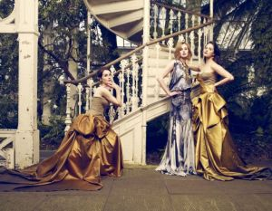 Michelle Dockery Laura Carmichael and Jessica Brown-Findlay by Jason Bell for Vogue UK August 2011.jpg