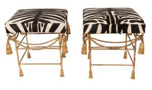 Colonial style decor - myLusciousLife.com - zebra-indian-british-colonial ottomans.jpg
