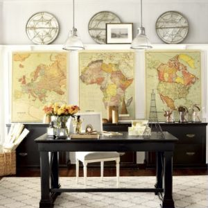 Decorating with maps - Ballard Designs map wall.jpg