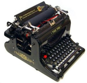 Inspired by the British Empire - decor - myLusciousLife.com - The Fox antique black typewriter.jpg