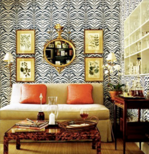 Inspired by the British Empire - decor - myLusciousLife.com - Zebra-Wall.png