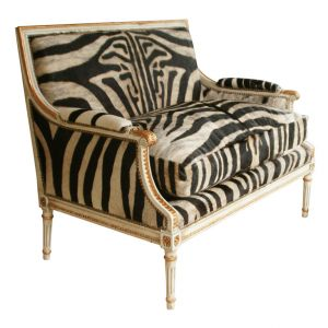 ... Zebra Indian British Colonial Style Ottomans ...