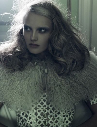 Edita Vilkeviciute and Anna Maria Jagodzinska by Craig McDean for W February 2009.jpg
