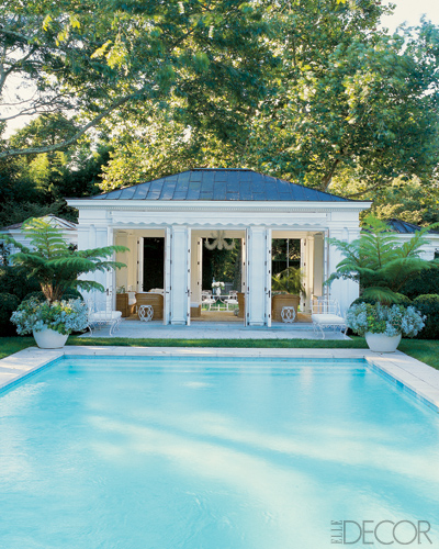 Famous folk at home aerin lauder s homes in manhattan and for Pool design hamptons