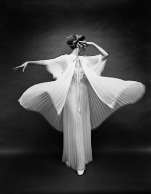 black and white vintage photo - Mark Shaw - Vanity Fair - Butterfly_robe_arm_out.jpg