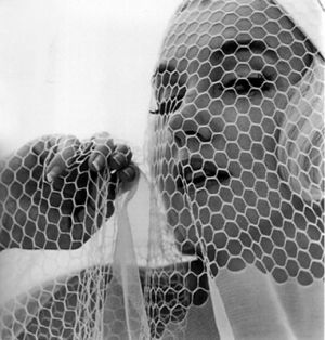 vintage black and white photo - marilyn - net veil.jpg