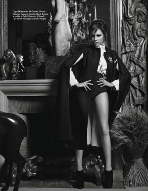 Victoria Beckham in Coco Chanel's apartment by Karl Lagerfeld for Elle November 2012