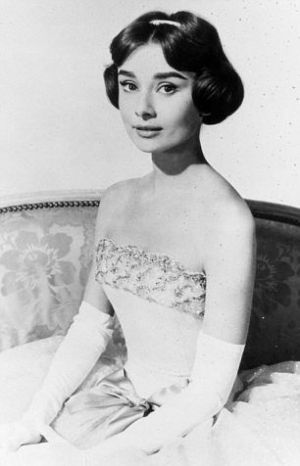 Audrey Hepburn - in 1956 film Love in the Afternoon - Givenchy opera gown.jpg