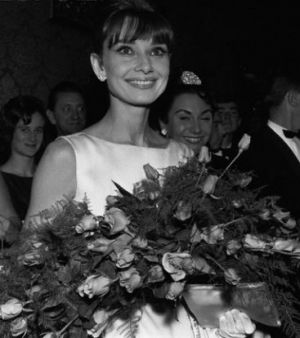 Audrey Hepburn - white outfit with roses 1965.jpg