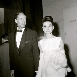 Audrey Hepburn and Mel Ferrer at British Film Academy Awards.jpg