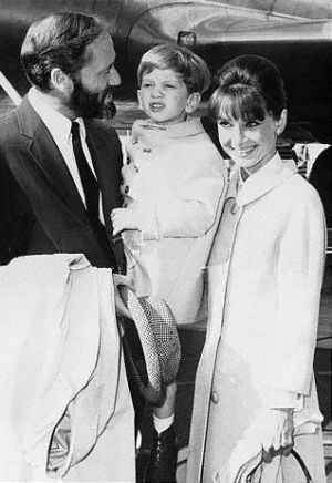 Audrey Hepburn and Mel Ferrer with son Sean Hepburn Ferrer.jpg
