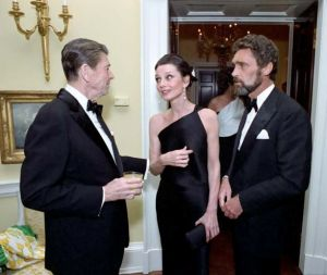Audrey Hepburn and partner Robert Wolders with Ronald Reagan.jpg