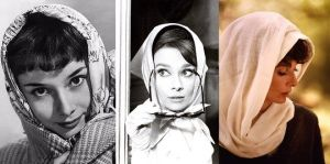 Audrey Hepburn movies - Audrey Hepburn with headscarf.jpg