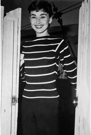 Audrey Hepburn photo - la-mariniere-audrey-hepburn_ in striped shirt.jpg