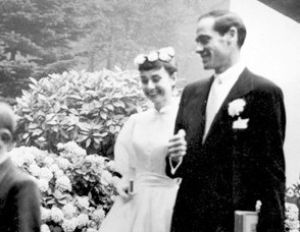 Audrey Hepburn style - Audrey Hepburn and Mel Ferrer - wedding day.jpg
