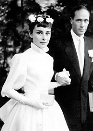 Photo of Audrey Hepburn - style icon - Audrey Hepburn and Mel Ferrer - wedding day.jpg
