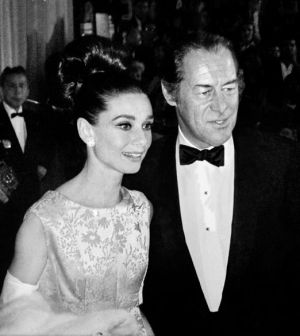 Photo of Audrey Hepburn - style icon - Audrey Hepburn and Rex Harrison.JPG