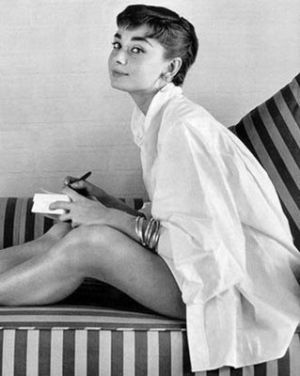 Photo of Audrey Hepburn - style icon - Audrey Hepburn in white shirt.jpg