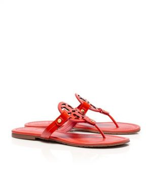 b7197c218cb7c ... Tory Burch shoes - patent LEATHER MILLER SANDAL - Flame red.jpg ...