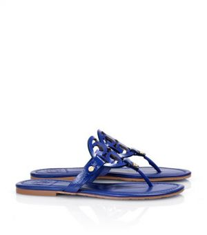 Tory Burch shoes - patent LEATHER MILLER SANDAL - Monaco blue.jpg