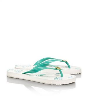 Tory Burch shoes - printed FLIP FLOP - tiffany blue and white.jpg
