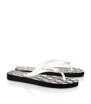Tory Burch shoes - printed FLIP FLOP black and white dots.jpg