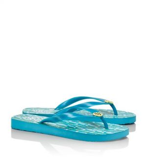 Tory Burch shoes - printed FLIP FLOP turquoise.jpg