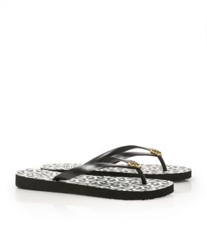 Tory Burch shoes - printed FLIP FLOP white and black print.jpg