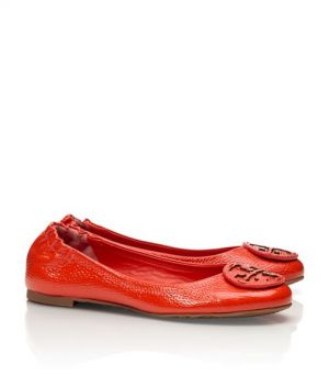 Tory Burch shoes - tumbled LEATHER REVA BALLET FLAT flame red.jpg