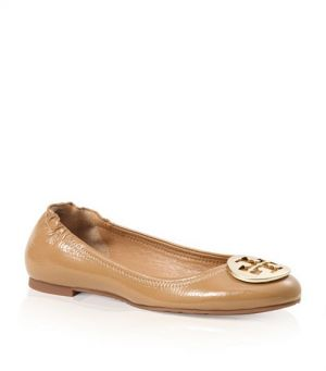 Tory Burch shoes - tumbled PATENT LEATHER REVA BALLET FLAT sand.jpg