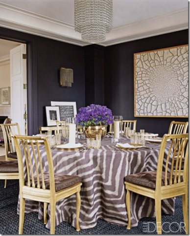 With Animal Prints Aerin Lauders Dining Room In Elle