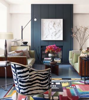 Wonderful ... Living Room Via Elle Deco With Animal Print Chair  Furniture Decor And  Accessories ... Part 17