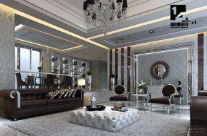Glamorous Home Art Deco Inspired Living Room Elegant Jpg