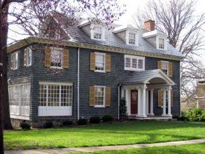 Dark Grey House With White Trim Mylusciouslife Jpg